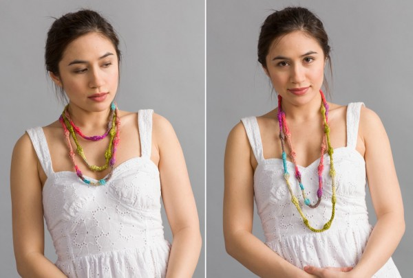 knit bead necklace knitting pattern