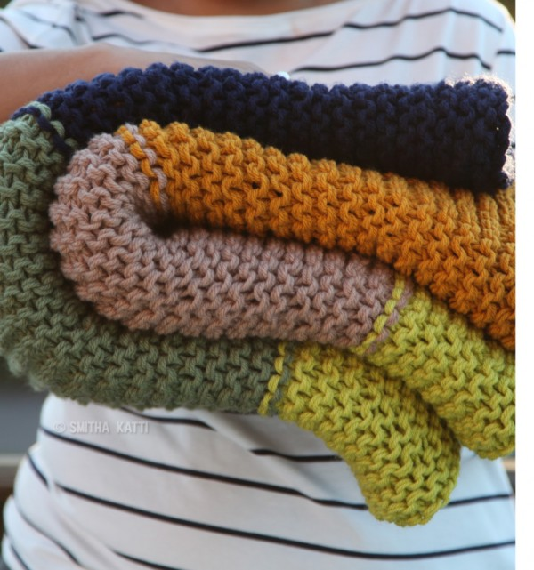Bust Through Your Stash with a Garter Stitch Blanket   Knitting