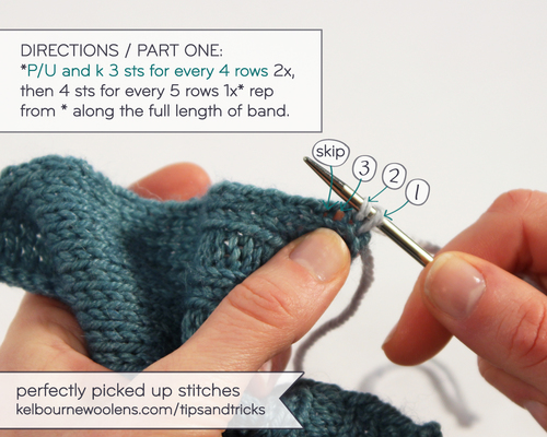 Picking Up Stitches When Knitting : Learn the Right Way to Pick up Stitches for a Button Band   Knitting