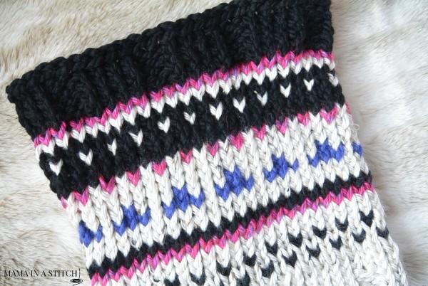 Easy stranded knitting cowl