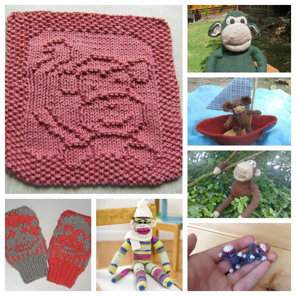 Monkey knitting patterns for Chinese New Year or anytime!