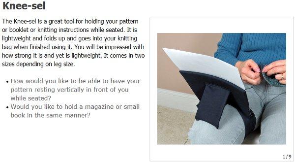 knee-sel knitting chart holder