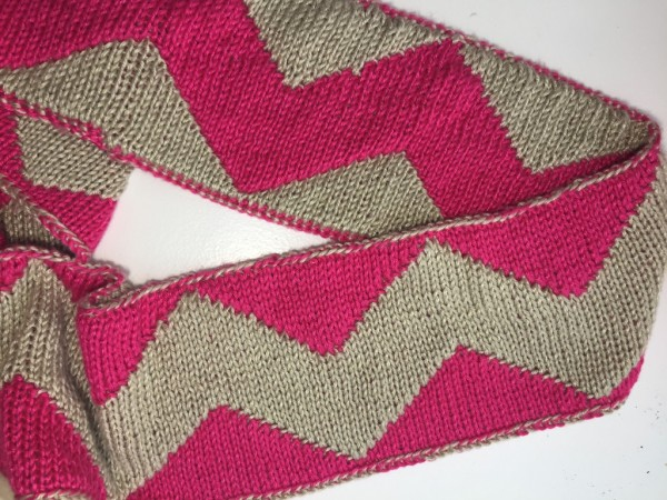Knit a reversible, double knitting infinity scarf