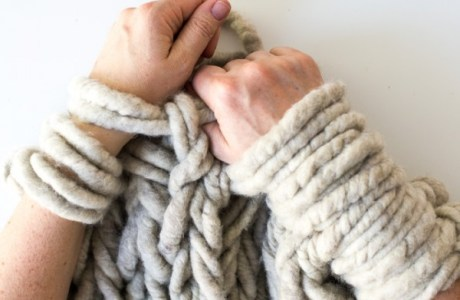 How to Control Tension with Arm Knitting