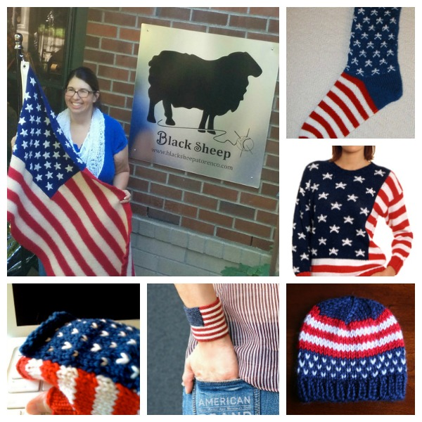 Free knitting patterns for the Fourth of July.