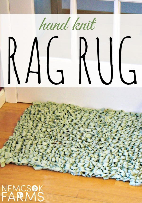learn to knit a rag rug out of an old sheet