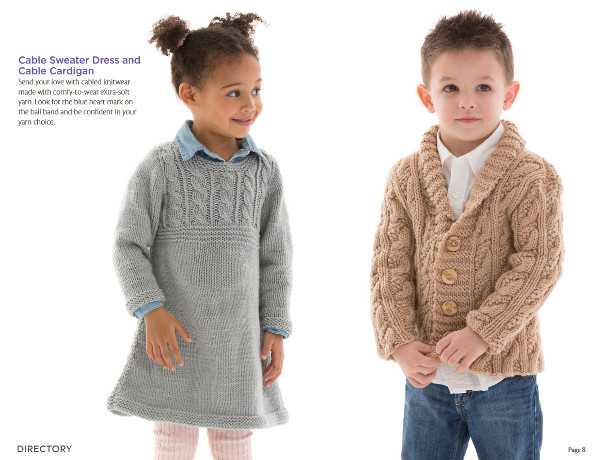 Red Heart free ebook for baby and kids knitting and crochet.