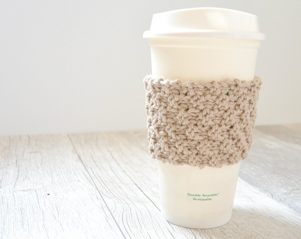 easy knit coffee cup cozy pattern