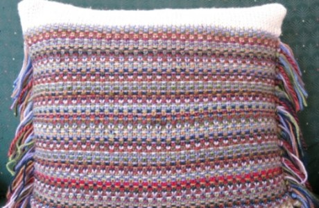 Use Up Odd Balls to Make a Cool, Colorful Pillow Cover