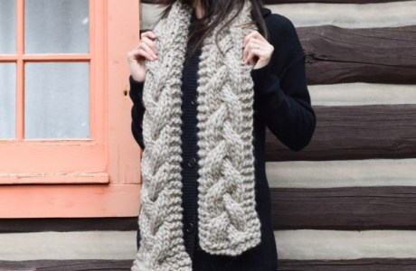 Get Ready for Fall with a Huge Chunky Scarf