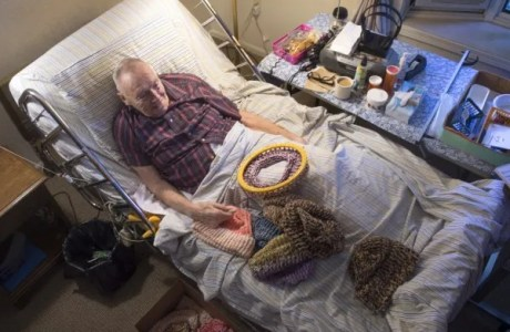 Man in Hospice Has Made More than 8,000 Hats for the Homeless
