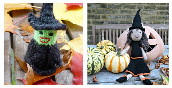 A Couple of Little Witches to Knit