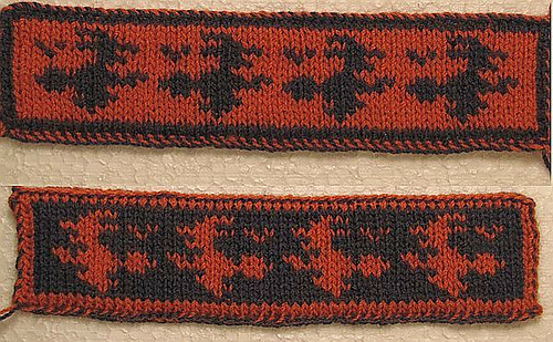 Knit a double knitting witch bookmark for Halloween.