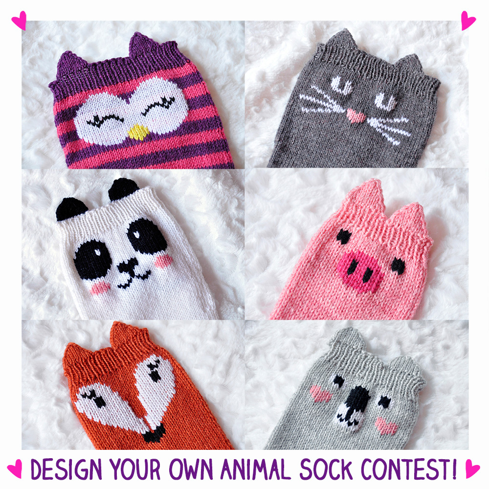Animal Design Design Your Own Animal Sock Contest Knitting Is Awesome