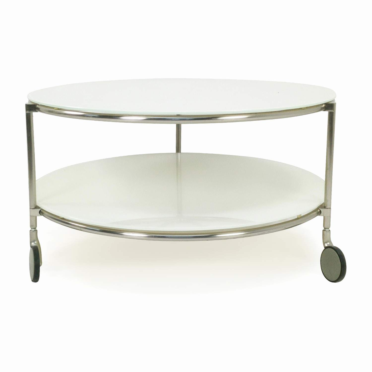Round Coffee Table On Wheels Ikea Round White Glass Coffee Table On Wheels Round
