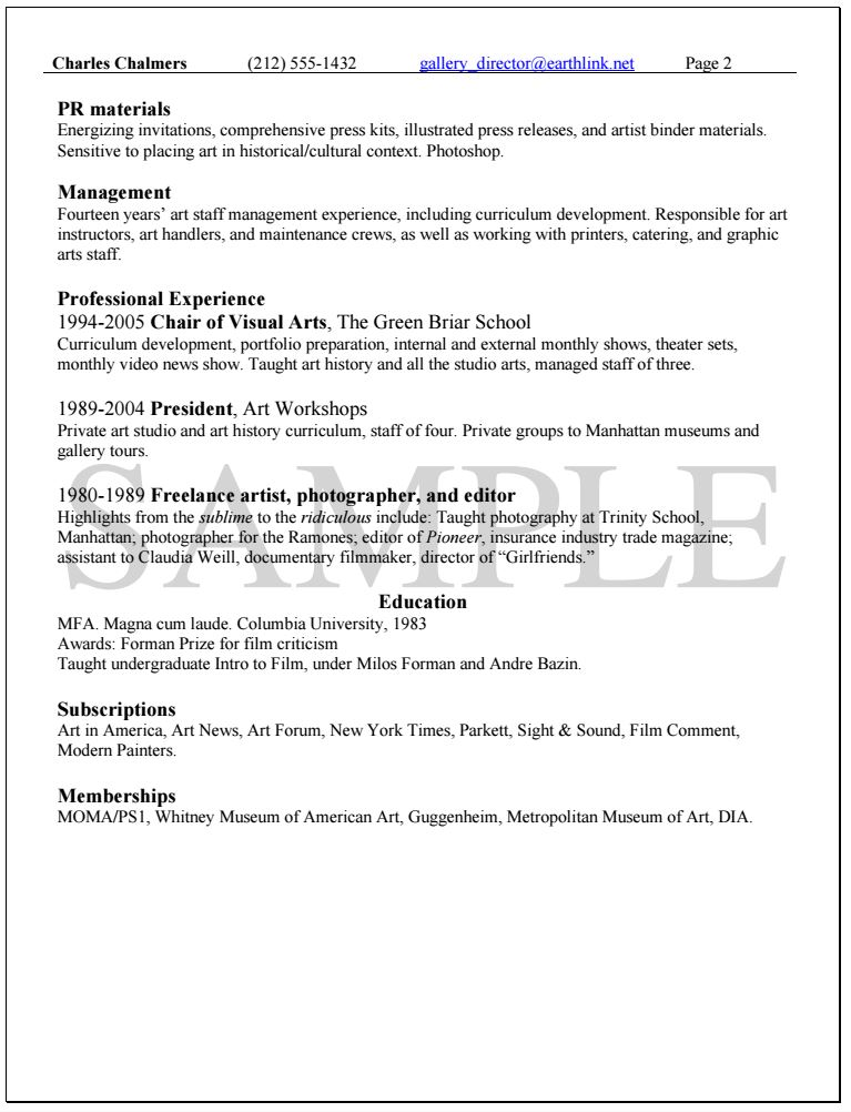 Knock Em Dead Professional Resume Writing Services - cultural adviser sample resume