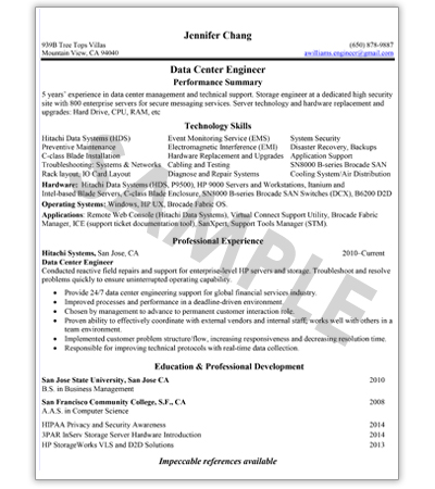 Tech  IT Resume Writing Service - Technology Resume