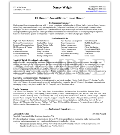 Management Resume Writing Services