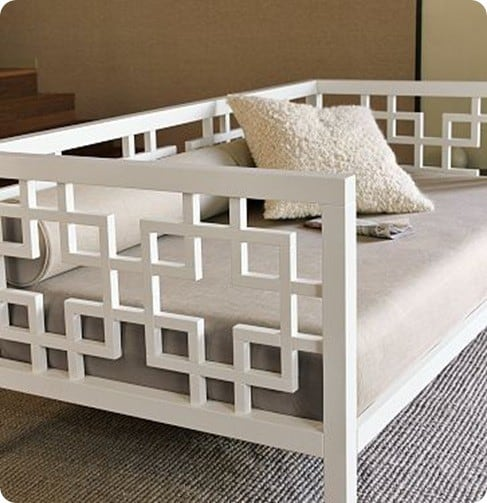 Daybeds At Rooms To Go White Daybed With Geometric Design - Knockoffdecor.com