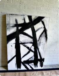 Black and White Abstract Art (Even Your Kids Can Paint!)