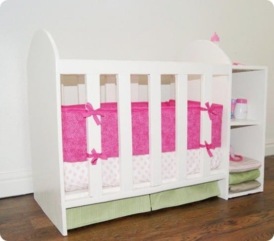 Baby Changing Table Dresser Doll Crib With Changing Table - Knockoffdecor.com