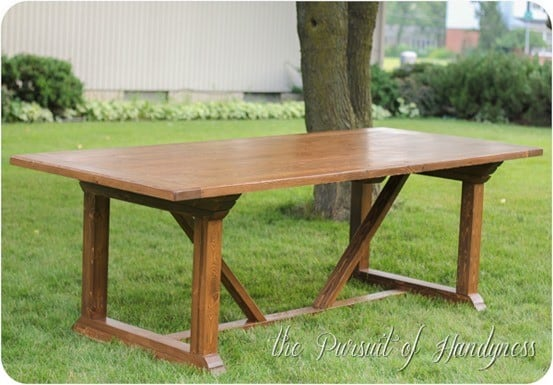 X Base Outdoor Dining Table Knockoffdecorcom