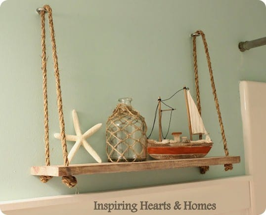 Angie was inspired by the retired swing shelf from pottery barn kids