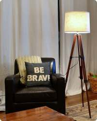 Thrift Store Tripod Floor Lamp