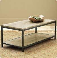 Wood and Metal Frame Coffee Table