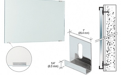 How to install a mirror with mastic or clips