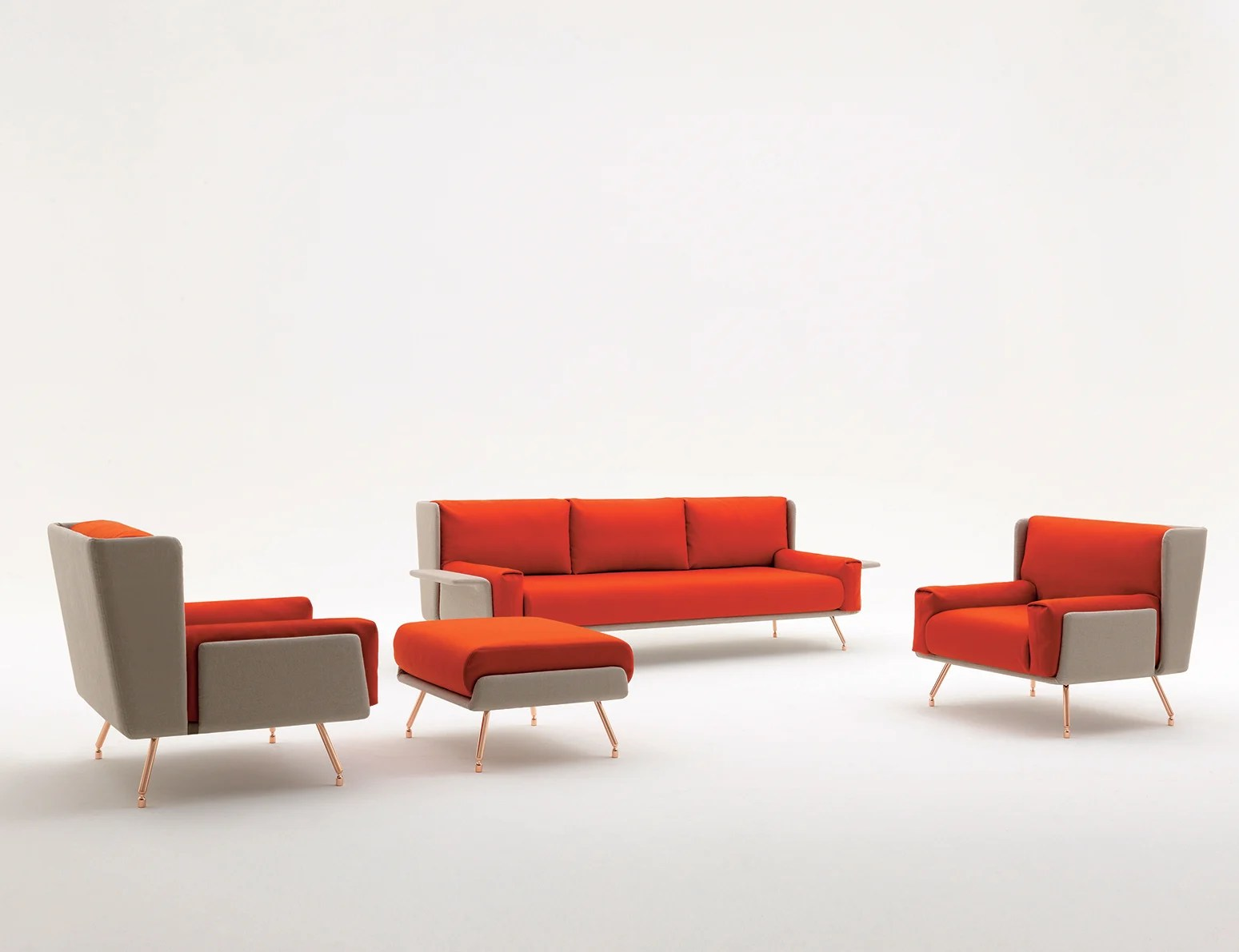 Knoll Sofa Architecture Associés Residential Sofa And Ottoman Knoll