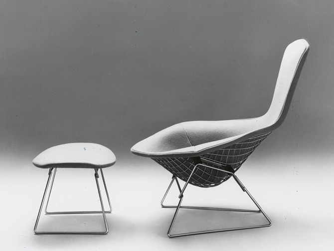 Designer Lounge Sessel Bertoia Bird Chair | Knoll