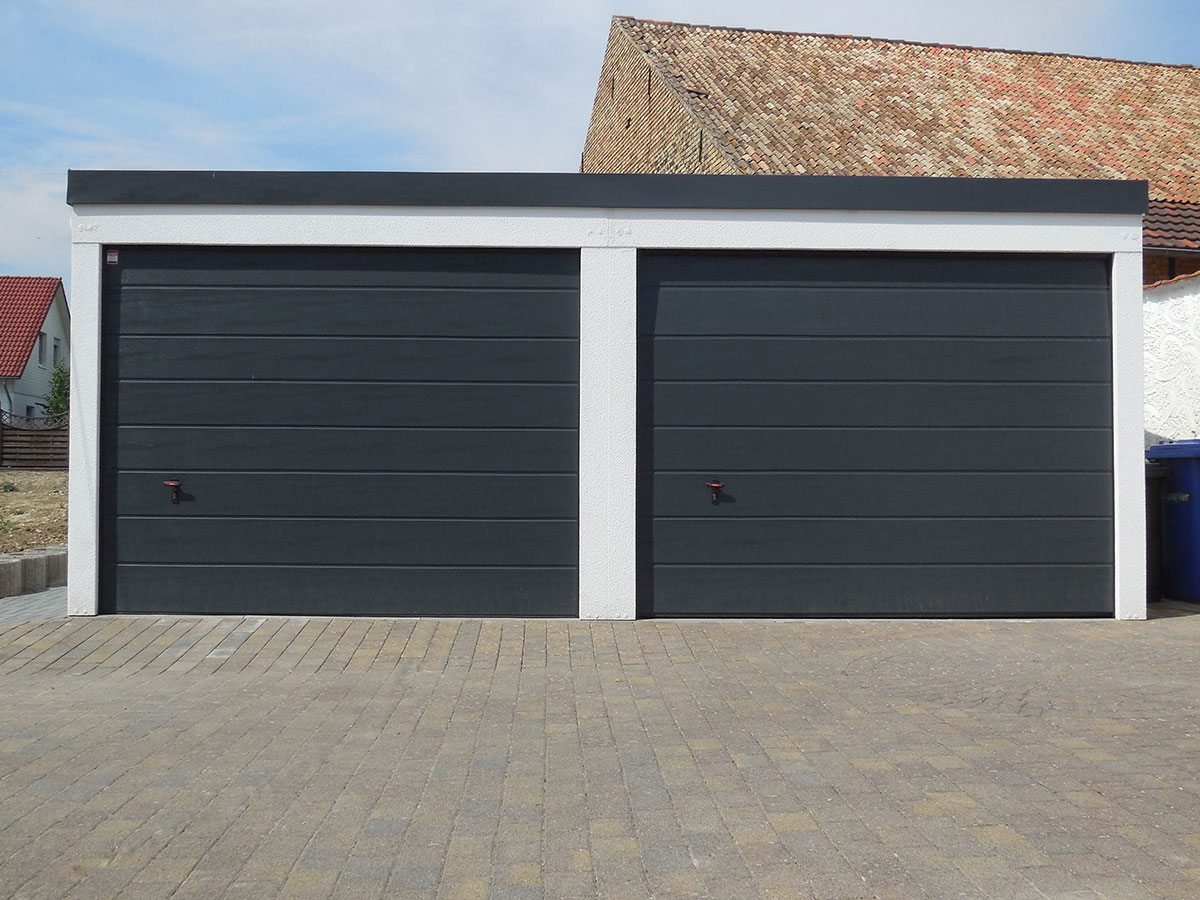 Optimale Breite Doppelgarage Doppelgarage - Knopp Garagen