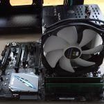 Mainboard mit CPU-Kühlkörper