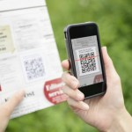 Scanning advertising with QR code on mobile phone