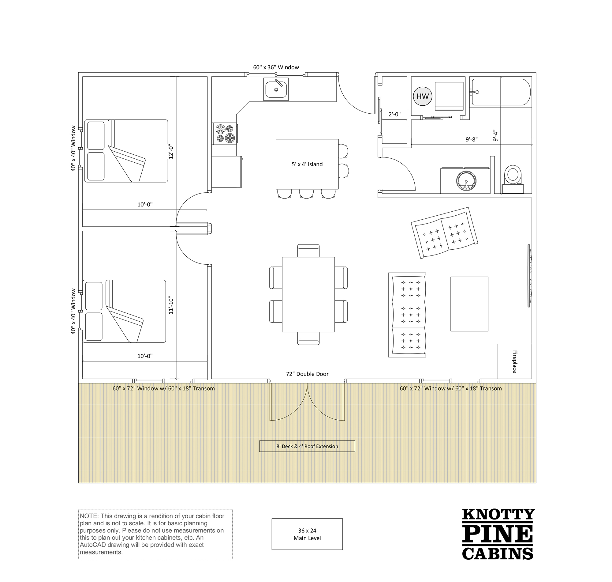 Flat Plan Floor Plans Alberta Cabin Packages