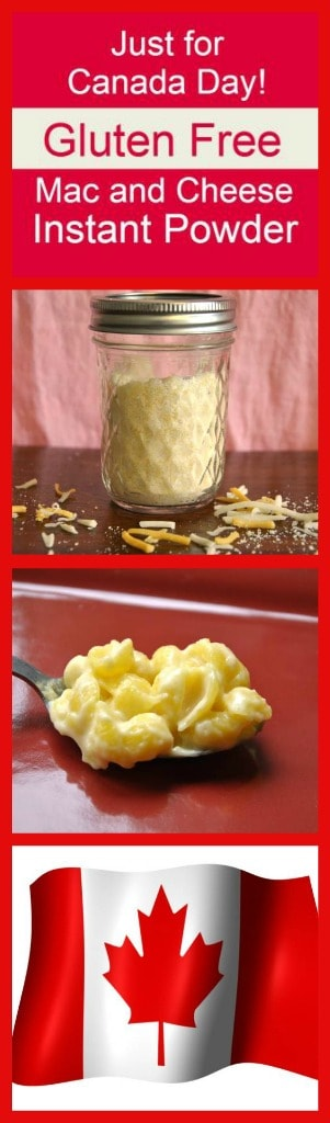 Just for Canada Day gluten free instant cheese sauce powder for macaroni and cheese or Kraft Dinner from Know Gluten