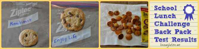 School Lunch Challenge - Chocolate Cookies Back Pack Test Results Photos - Knowgluten.me