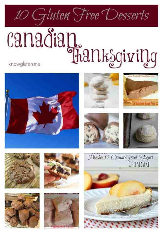 10 Gluten Free Desserts for your Canadian Thanksgiving Dessert Tray from knowgluten.me