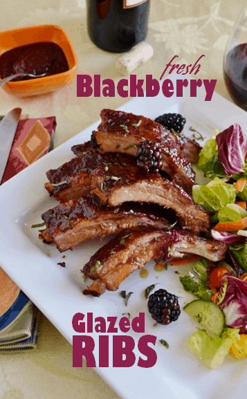 Black Berry Glazed Ribs from Cakewalker.com - this recipe is totally gluten free. {click the picture to visit the recipe}