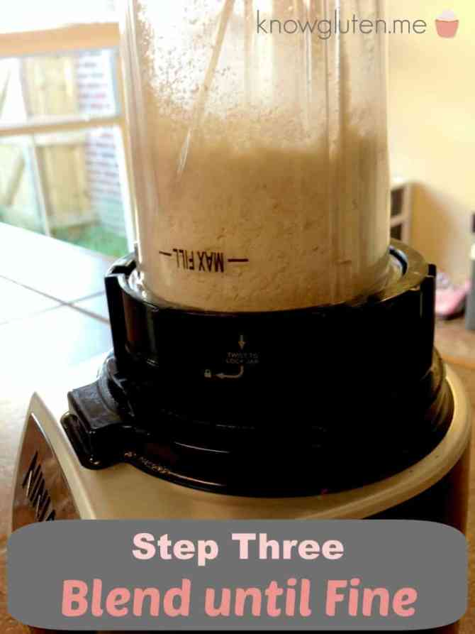 Step 3 Blend Until Fine - How to make your own cashew flour - from knowgluten.me 735
