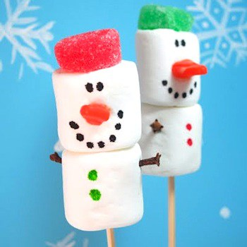 marshmallow snowmen from the crafty crow