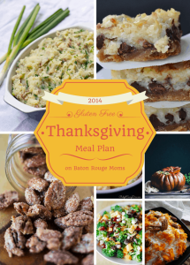 2014 Gluten Free Thanksgiving Meal Plan from knowgluten.me on Baton Rouge Moms