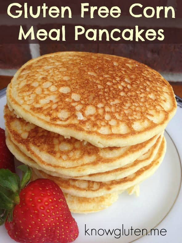 gluten free cornmeal pancakes from knowgluten.me