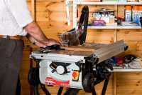 Setting Up Table Saw & Completed Table Saw Table