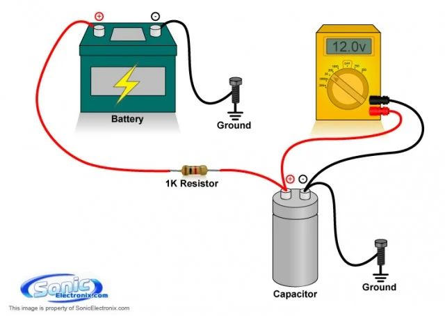 car audio capacitor wiring