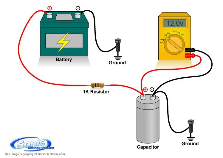 scosche car audio capacitor wiring
