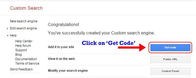 How to Create Custom Search Engine Step 3