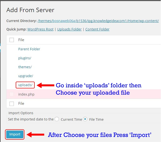 How to Upload Large Files in WordPress Step 3