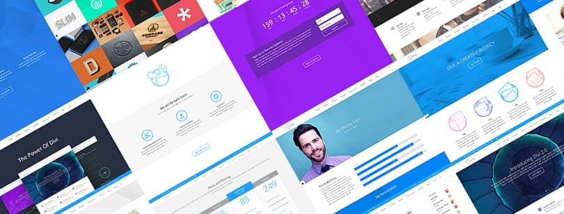 Divi WordPress Theme Pre-Made Designs